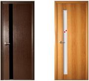 Двери межкомнатные с фурнитурой от производителя.