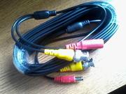 кабель для видеокамер разъемы питания и bnc