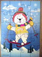 Пазл ''Медвежонок на лыжах''