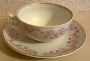 Чайная пара (винтаж,  Рижский ФФЗ)